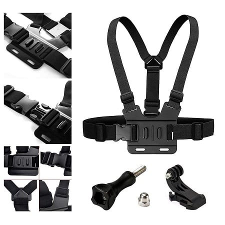 Adjustable Chest Strap Mount Elastic Action Camera Body Belt Harness